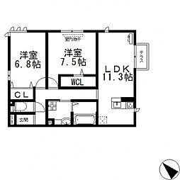 (仮称)D-room玉串町西[101号室号室]の間取り
