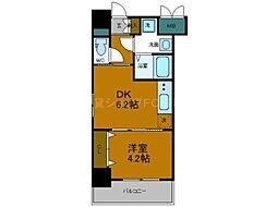 Osaka Metro中央線 弁天町駅 徒歩9分の賃貸マンション 10階1DKの間取り