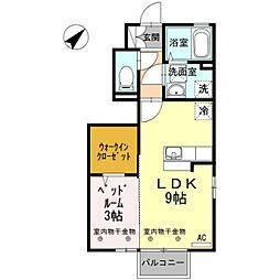 D-room蓮町[101号室]の間取り