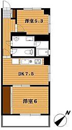 第8たつみビル[4階]の間取り