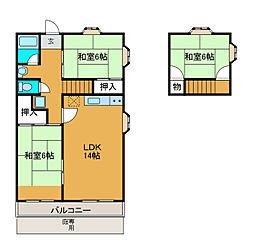 ロイヤルタウン西成瀬7号棟[1階]の間取り