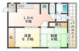 ハイツSANO[3階]の間取り