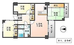 アミング潮江21-1号棟[4階]の間取り