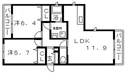 シャーメゾン播磨町[2階]の間取り