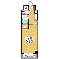 ドミトリィ御池[3階]の間取り