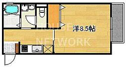 レヴールメゾン紫竹[202号室号室]の間取り