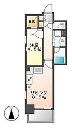 エステムプラザ名古屋丸の内[8階]の間取り