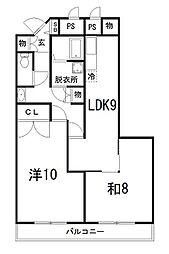 メゾンロワイヤル松田[107号室]の間取り