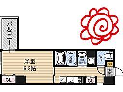 JR片町線(学研都市線) 徳庵駅 徒歩1分の賃貸マンション 4階1Kの間取り