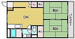 ハイツ穂積[6階]の間取り