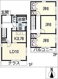 [一戸建] 愛知県刈谷市稲場町6丁目 の賃貸【/】の間取り