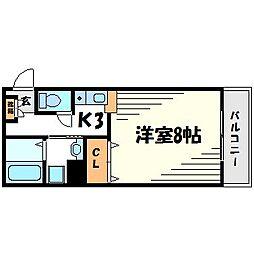 カーサコモド[1階]の間取り