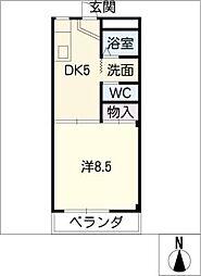 ハイツ樹[3階]の間取り