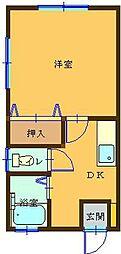 サンロイヤル[A103号室]の間取り