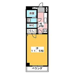 モンレーブ葵東II[1階]の間取り