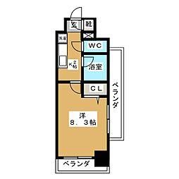 現代ハウス新栄[3階]の間取り