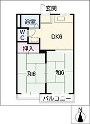 アピアランス神の倉[2階]の間取り