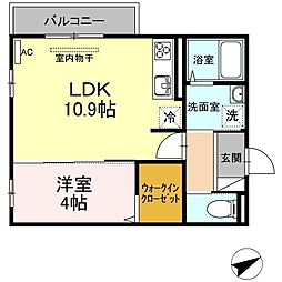 (仮)D-room山本3丁目[204号室]の間取り