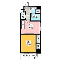 メゾン ド レスポワール 5階1DKの間取り