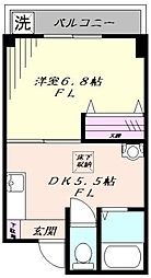 東京都豊島区千早2丁目の賃貸マンションの間取り