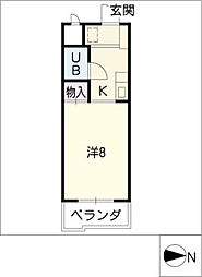 第1イッセイマンション[4階]の間取り