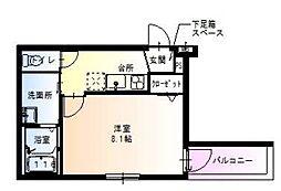 大阪府堺市西区鳳中町9丁の賃貸アパートの間取り