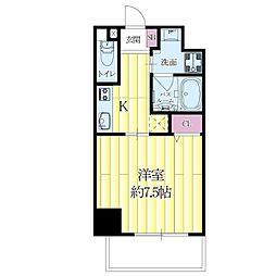 JR東海道・山陽本線 吹田駅 徒歩8分の賃貸マンション 4階1Kの間取り