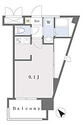 ALFACIO DIFOND 5階ワンルームの間取り