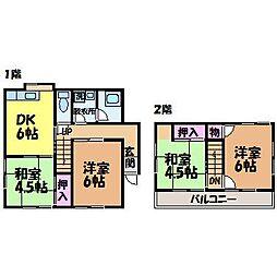 [一戸建] 愛媛県松山市和泉南2丁目 の賃貸【/】の間取り