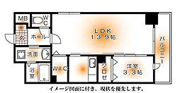 シャト−・ドゥ・オムネス[601号室]の間取り
