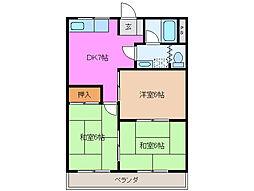川方マンション[3階]の間取り