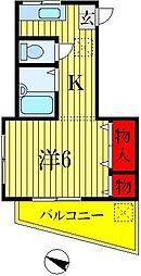 ハイツアキラ[1階]の間取り