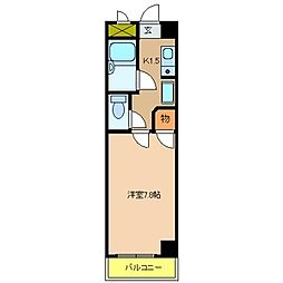 ドムール若山[303号室]の間取り