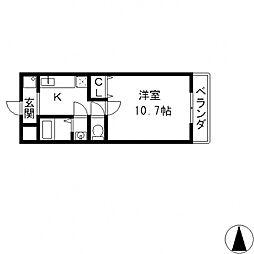 Kアゴラ[207号室号室]の間取り