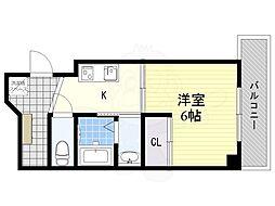 JR東海道・山陽本線 吹田駅 徒歩5分の賃貸マンション 3階1Kの間取り