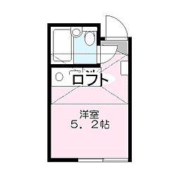 レジデンス笠間[202号室]の間取り