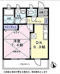 ライフ湘南[3階]の間取り