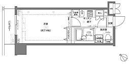 神奈川県横浜市中区不老町3丁目の賃貸マンションの間取り
