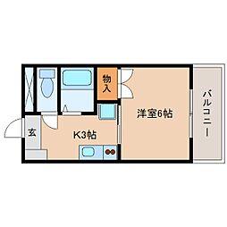 静岡県藤枝市下青島の賃貸マンションの間取り