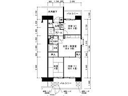 兵庫県神戸市垂水区舞子台7丁目の賃貸マンションの間取り