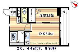 ハウス小林[2階]の間取り