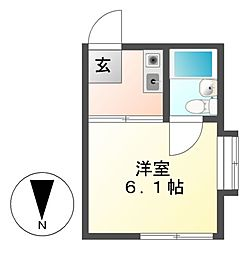G1ビル大曽根[4階]の間取り