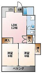 ニュー甲子園マンション[1階]の間取り