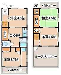 [一戸建] 兵庫県神戸市中央区琴ノ緒町2丁目 の賃貸【/】の間取り
