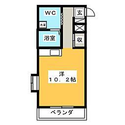 Raduno東静岡[3階]の間取り