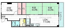 財形江坂ハイツ[1階]の間取り