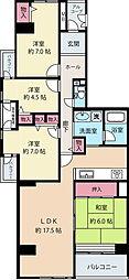 ビュープラザセンター北3−1号棟[1階]の間取り