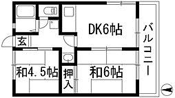 ローレルコーポ[2階]の間取り