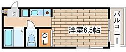 兵庫県神戸市灘区箕岡通2丁目の賃貸マンションの間取り