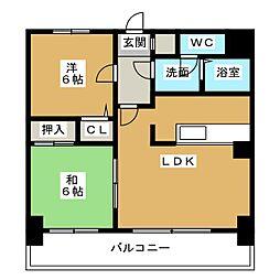 カルム箱崎東II[5階]の間取り